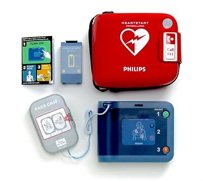 Philips FRx Heartstart Defibrillator AED Battery + Pads + Case with Response Kit