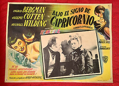 Under Capricorn 1949 Mexican lobby card Alfred Hitchcock Ingrid Bergman