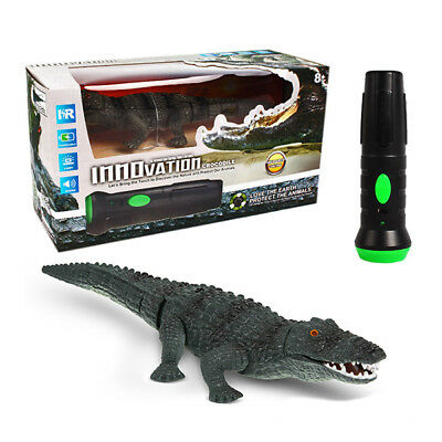 Remote Control Crocodile Toy ACTION SOUND EFFECTS Infrared Torch Controlled UK