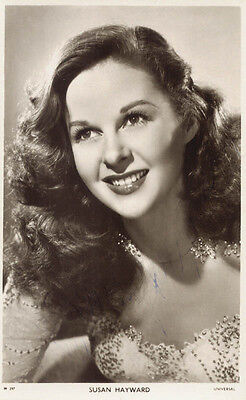 Susan Hayward - Picture Post Card Signed