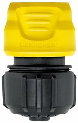 Karcher Universal Hose Connector Aqua Stop Metal Yellow Black Patio Cleaner