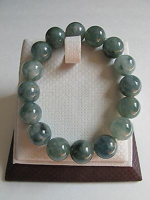 100% Natural type A jadeite jade beads stretch bracelet J00010