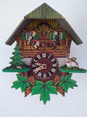 Vintage Chalet Style Clock for Spares or Repair