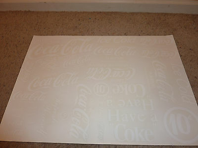 cool vintage FULL SHEET of COCA COLA decals Vending Machine HAVE A COKE White