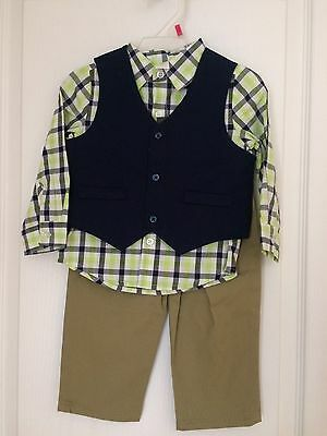 Brand New Infant Boys George 3-Piece Vest Shirt Pants Suit Set 18m