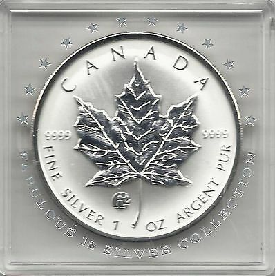 Maple Leaf 2009 Fabulous 12 Privy Mark F12 5$ 1 Unze Silber max. 5.000Ex.! RAR!