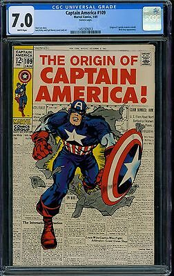 Captain America 109 CGC 7.0 - White Pages