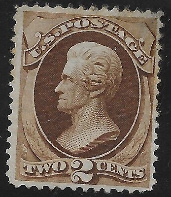 US Rare Stamps Collecting US Banknote Sc # 157 1873 2c MINT Hinged Cat $350
