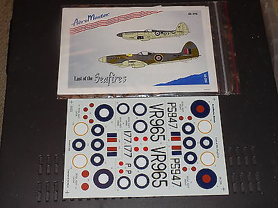 AeroMaster Decals 48296 1/48 Last of the Seafires