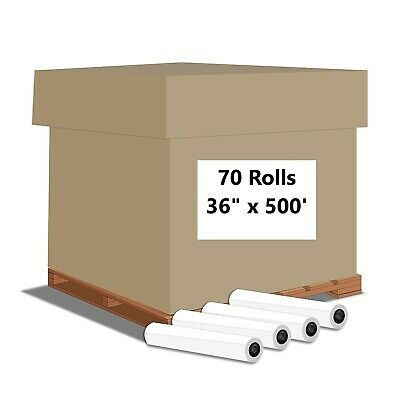 "Alliance Engineering Inkjet Rolls 36""x500'x3"" Untaped 20# 2Rls/Ctn 35Ctns/Pallet"