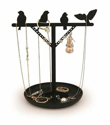 Kikkerland Oiseaux Bijoux & Support Bague Pour Fille Coiffeuse Display Stand
