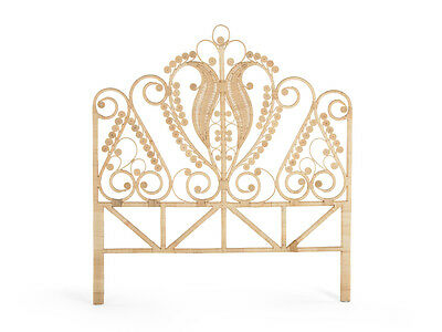 Peacock Rattan Headboard, Twin Size, Natural Color