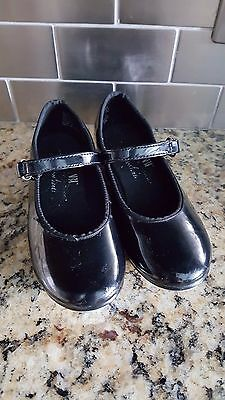 ABT Spotlights Black Faux Patent Leather Tap Shoes Toddler Size 8.5 Girls