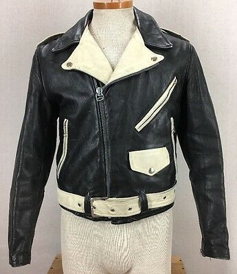 RARE 50's Kit Karson Two Tone Horsehide Leather Rockabilly Motorcycle Jacket