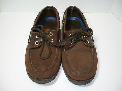 Sperry Top Sider Mens Boat Shoes Brown Leather 0195412 Size 8M