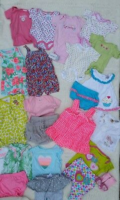 Baby Girl 0-3 months Summer Outfits Romper Dresses Carters Gerber *23pc* Lot #11