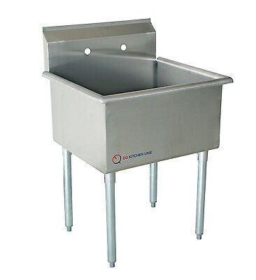 """EQ 1 Compartment Commercial Kitchen Sink Stainless Steel 19""""x27.5""""x43.75"""""""