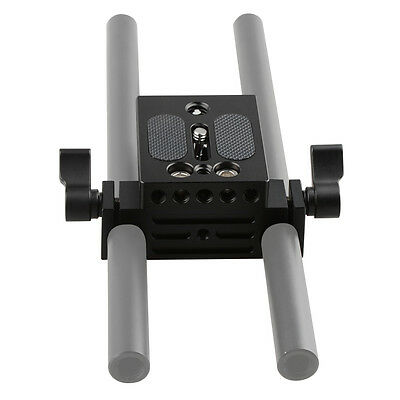 CAMVATE Camera Baseplate with 15mm Railblock fr DSLR Rig Support System 70D 60D