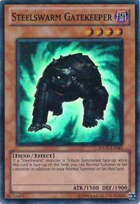 Steelswarm Gatekeeper Yugioh Card Super Rare HA05-EN045