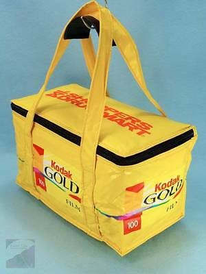 Vintage Kodak Gold Film Insulated Cooler Bag Lunch Picnic Tote Packable NWOT