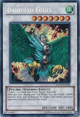 Daigusto Eguls Yugioh Card Secret Rare HA05-EN054