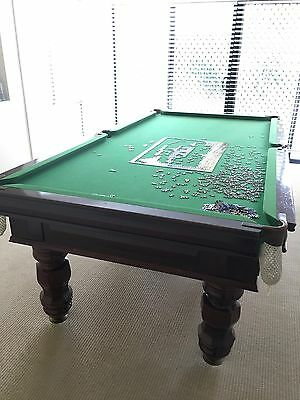 8 x 4 Solid Hardwood Billiard Table