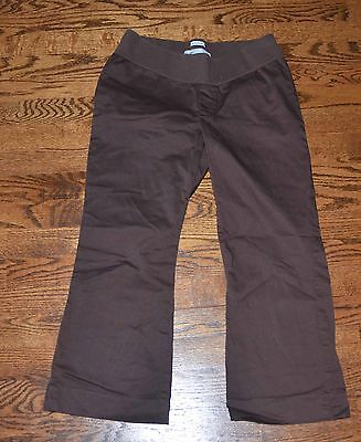 Old Navy Women's S Small Maternity Brown Cropped Capri Pants Stretch