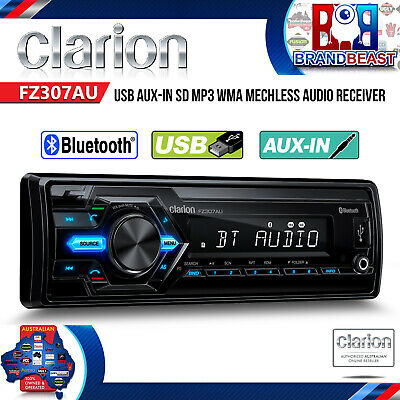 Clarion Fz307au 1-din Short Body Mechless Audio Bluetooth Car Audio Receiver