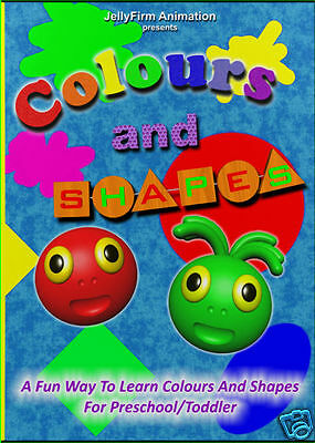 GREAT!! Learn Colours & Shapes animated DVD Video - SPECIAL PRICE!!