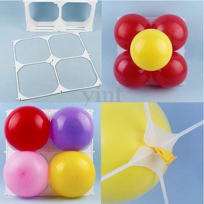 50X Square 4 Grid Modeling Wedding Party Balloons Grids Holder Tool Wall Decor