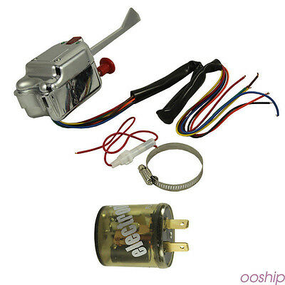 FORD GM BUICK 12V Universal Street Hot Rod Turn Signal Switch 7wire Clamp sp9