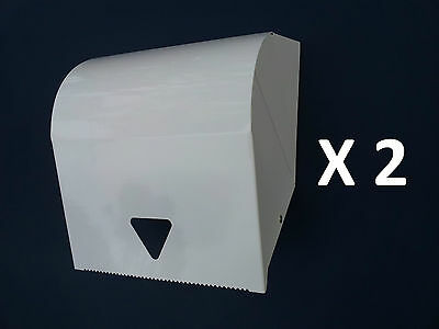 2 X STEEL PAPER TOWEL DISPENSER COMMERCIAL HAND PAPER HOLDER for BATHROOM TOILET