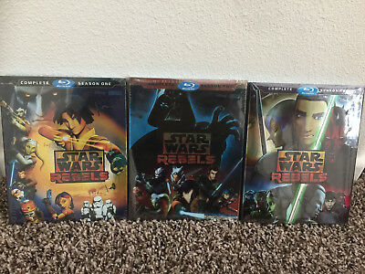 Star Wars Rebels Complete Season 1 2 3 First, Second Third Season Blu Ray New