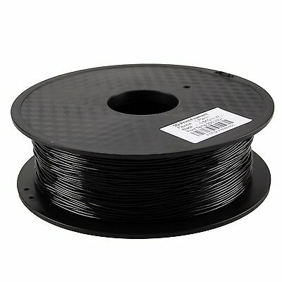 HICTOP Filament Flexible TPU Rubber Black 1.75mm for RepRap i3 3D Printer 0.8KG