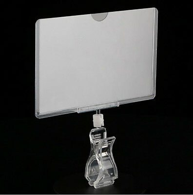 5.5Wx3.5H Sign Holder with Clip and Print Protector Lot of 5