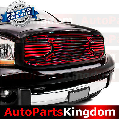06-08 Ram 1500+06-09 Ram 2500+3500 Big Horn Black+RED Packaged Grille+Shell
