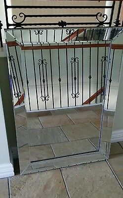 Wall Mirror French Provincial Art Deco Traditional Modern 75 X 105 Seconds New