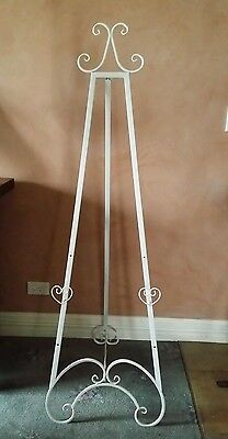 EASEL 157 CM HIGH ANTIQUE/VINTAGE WHITE / WEDDING / PHOTO/PAINTING DISPLAY exdis