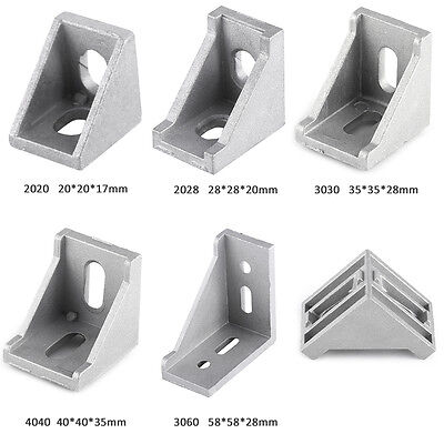 10pcs Aluminum Right Brace Corner Joint Angle Bracket Gusset Extrusion Profile