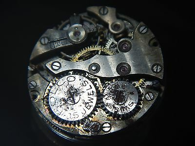 ROLEX ROLCO Watch Movement Vintage 1920's 15 Rubies Dial  Hand