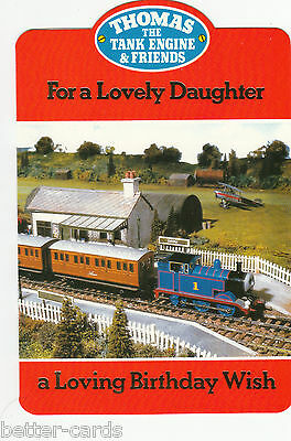Vintage Thomas The Tank Engine Happy Birthday Daughter 1980s Greeting Card ~