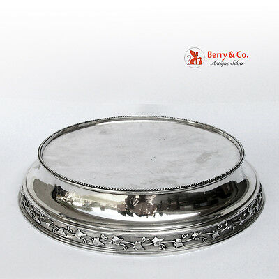 Round Pedestal Plateau Cake Stand Sterling Silver Gale Dominick and Haff 1870