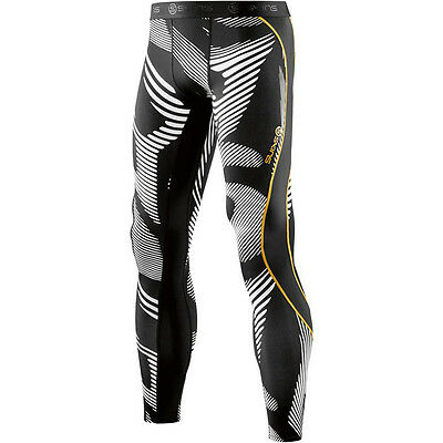 Skins NEW Mx DNAmic Leviathan Black Pants Motocross Mens Long Compression Tights