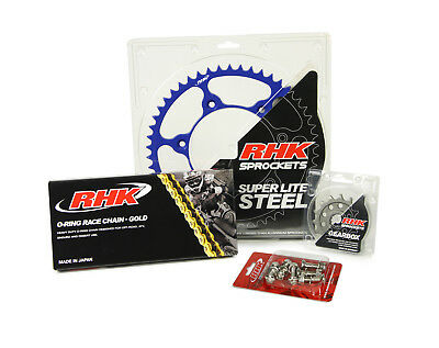 RHK NEW Mx Yamaha YZF WRF 450 98-17 Blue Motocross Chain Sprocket Bolt Kit 14/50