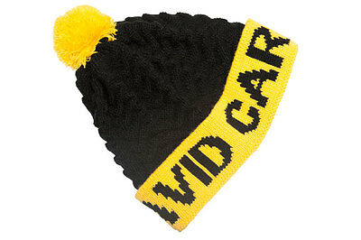 Avid Carp NEW Black & Yellow Knitted Bobble Hat One Size Fits All