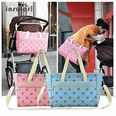 Insular Nappy Baby Bags Paws Printed Mummy Bag Waterproof Large Capacity EW