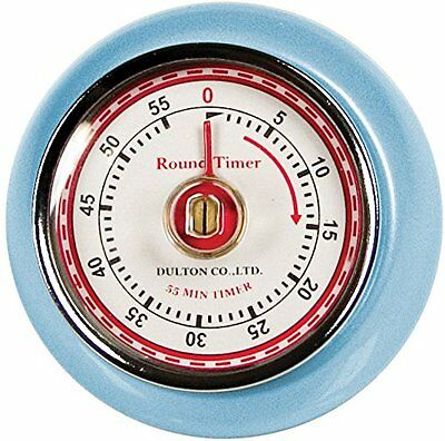 Fox Run Blue Classic Retro Kitchen 60 Minute Steel Timer With Magnetic Back 4260