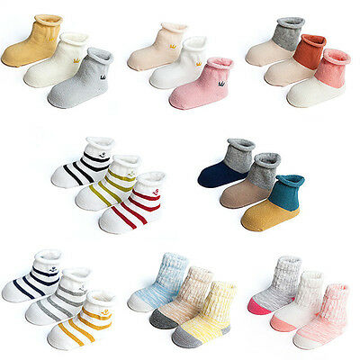 3 Pairs Baby Boy Girl Cartoon Cotton Socks Infant NewBorn Toddler Kids Soft Sock