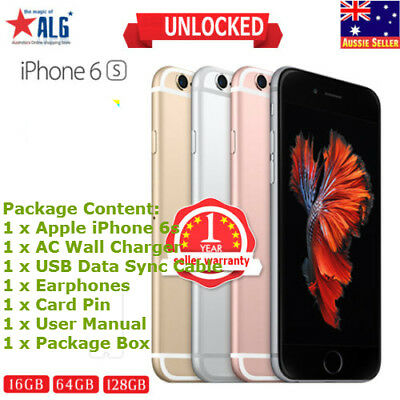 Apple iPhone 6S Smartphone - 16 64 128 GB Unlocked Space Grey Rose Gold Silver