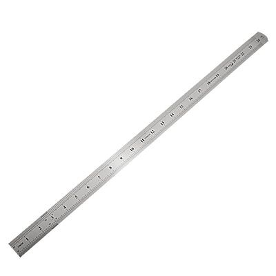 Stainless Steel 60cm 24.6 Inch Measuring Long Straight Ruler CT R0U2 O4B6 P D1Y5